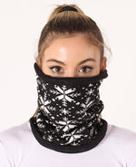 Knitted Snood - Black-White