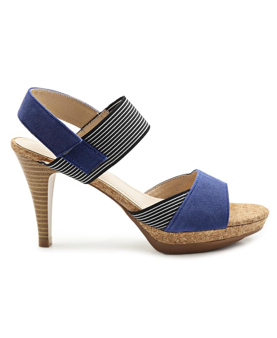 Leather Open Toe - Blue