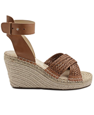 Leather Wedge - Brown