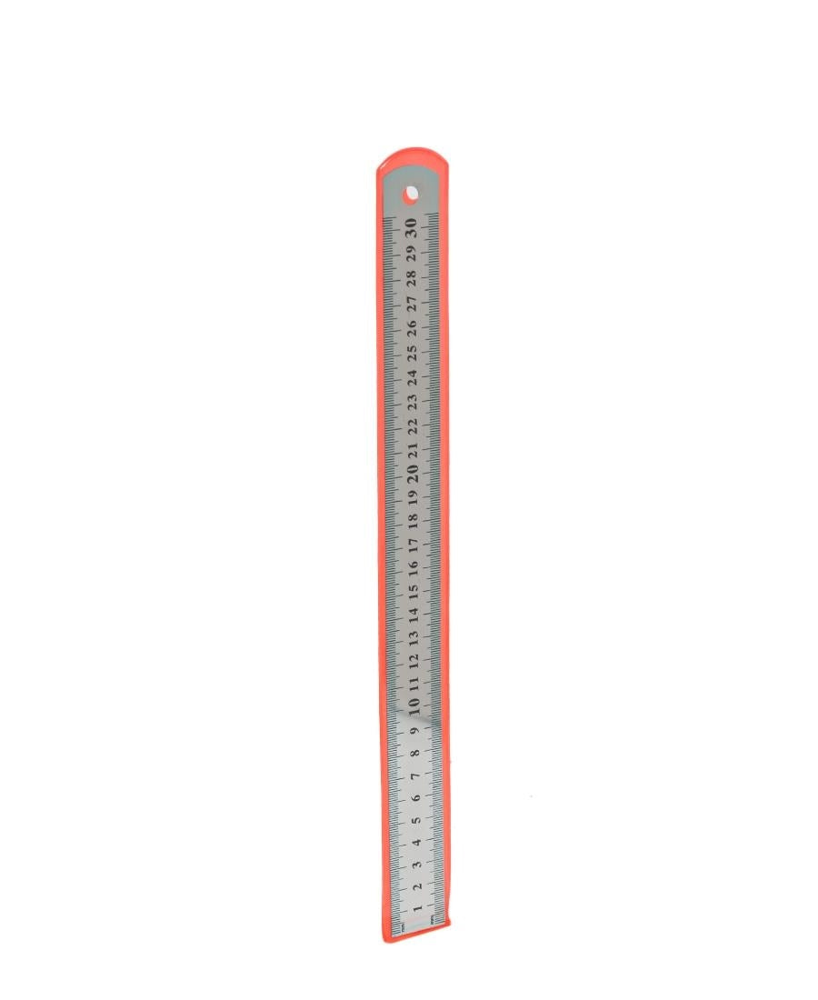 30cm Stainless Steel Ruler - Silver