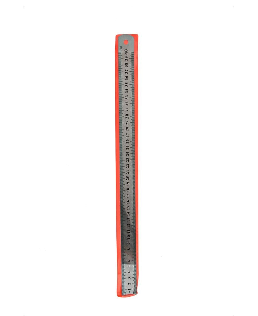 40cm Stainless Steel Ruler - Silver