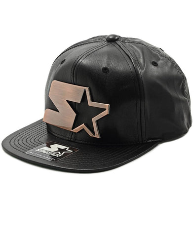 Leather Snapback - Bronze