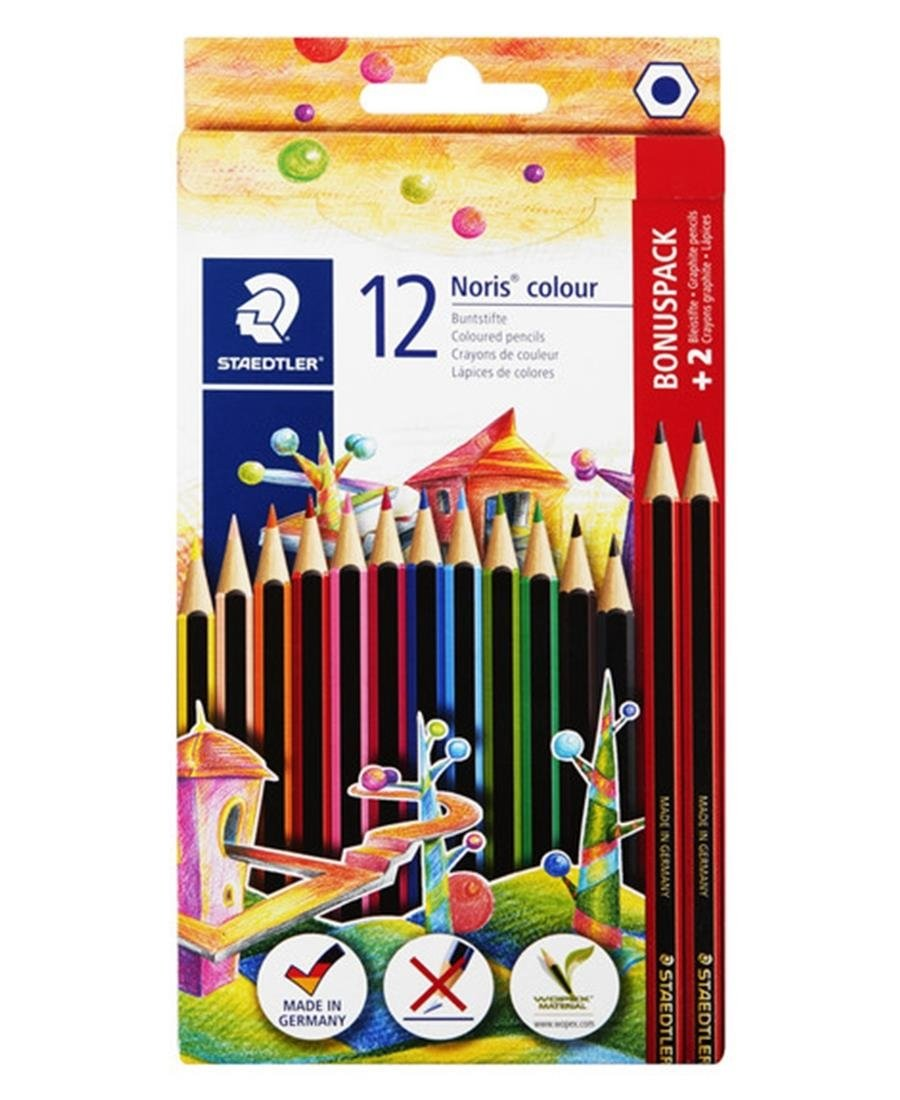 Staedtler 12 Pack Noris Colour Pencils - Multi
