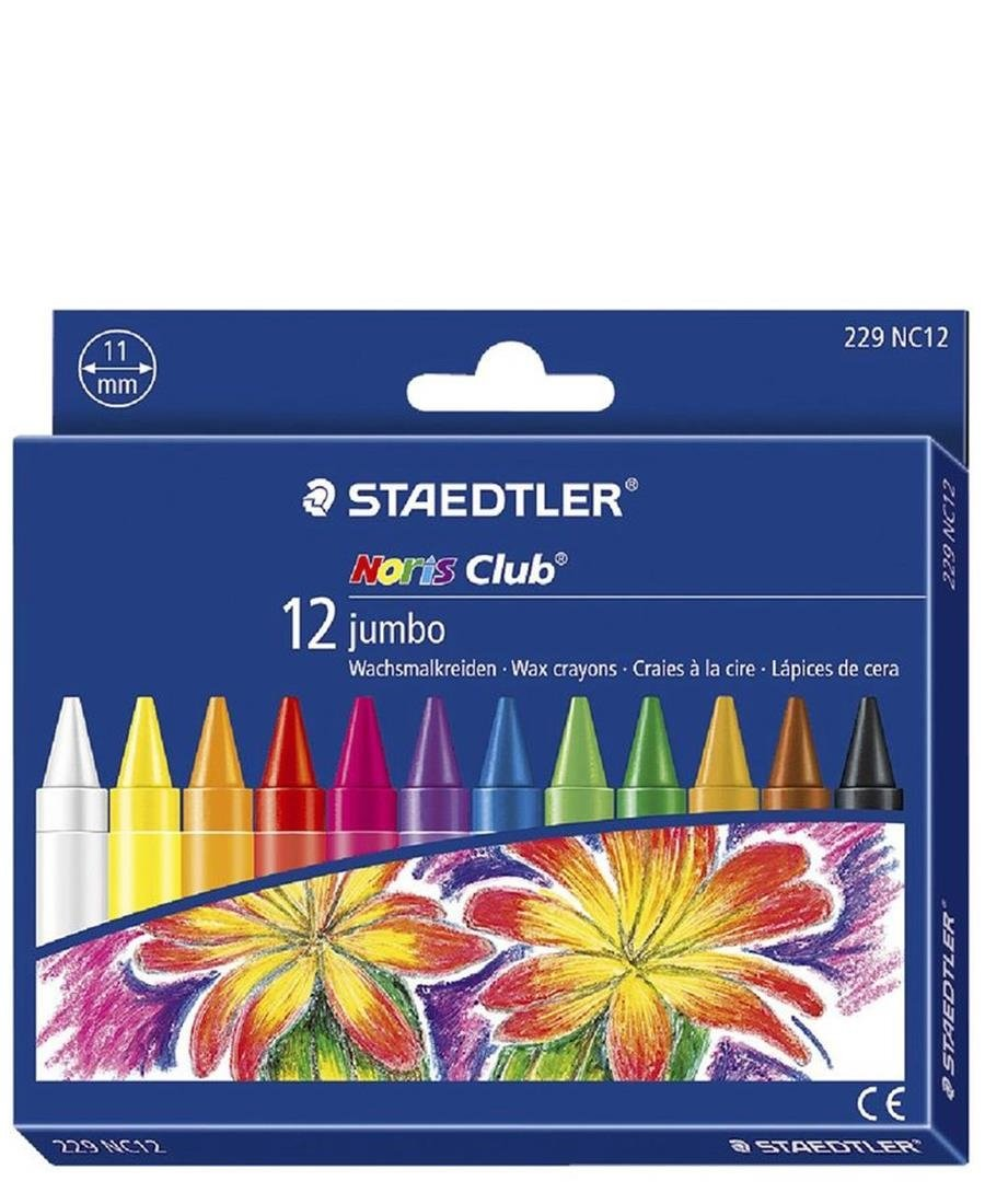 Staedtler 12 Pack Noris Wax Crayons - Multi