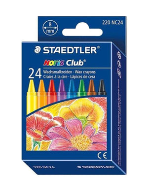 Staedtler 24 Pack Noris Wax Crayons - Multi