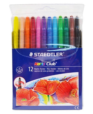 Staedtler12 Pack Noris Wax Twisters - Multi - planet54.com