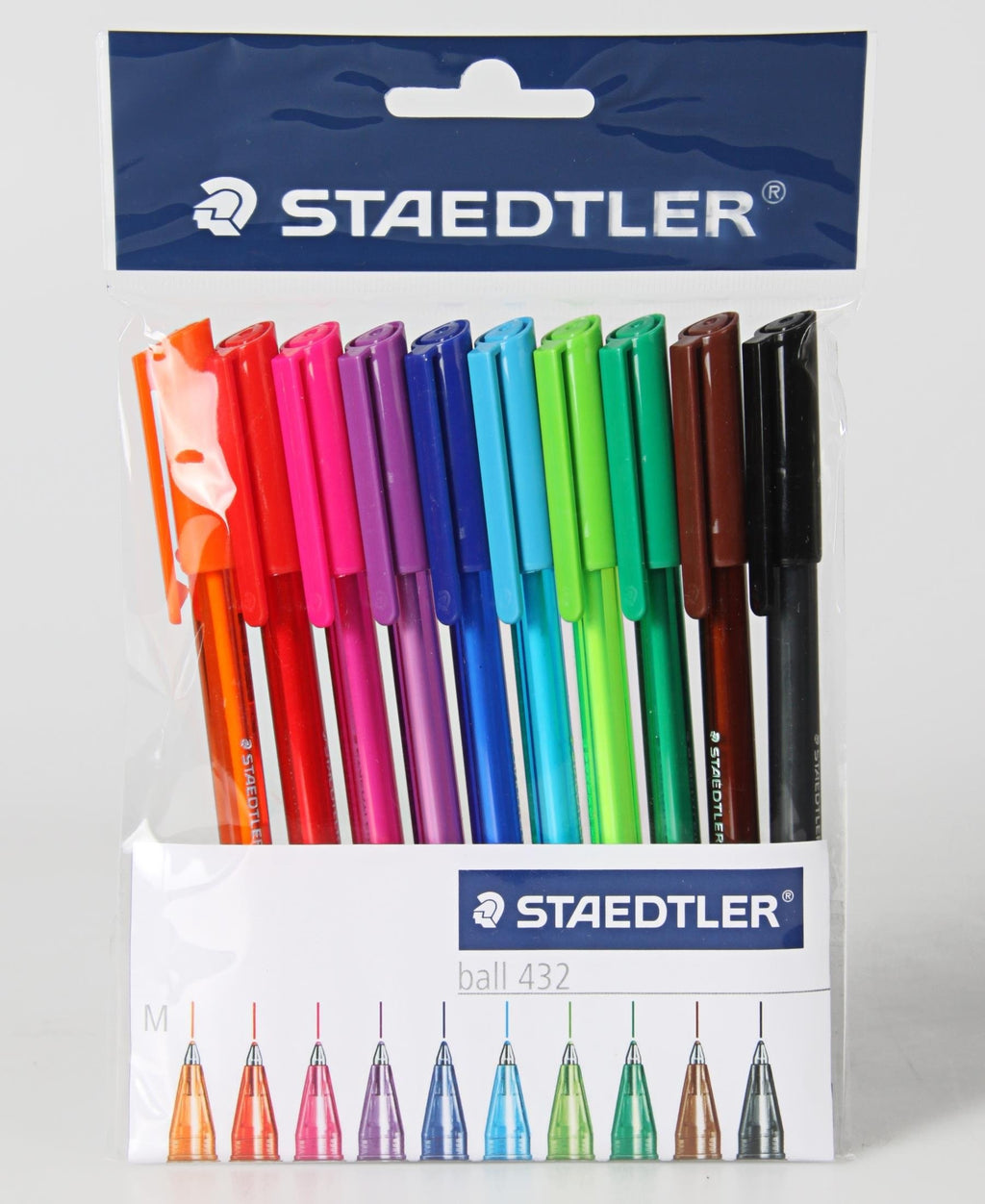 Staedtler 10 Assorted Ball Point Pens - Multi