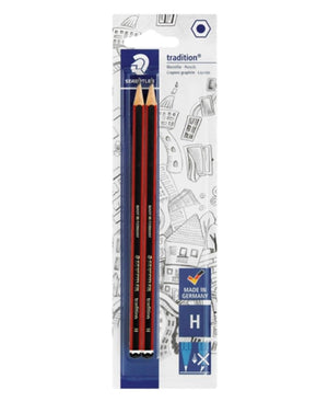 Staedtler 2 Pack Pencils - Red - planet54.com