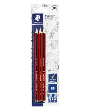Staedtler 3 Pack Tradition Pencils - Red