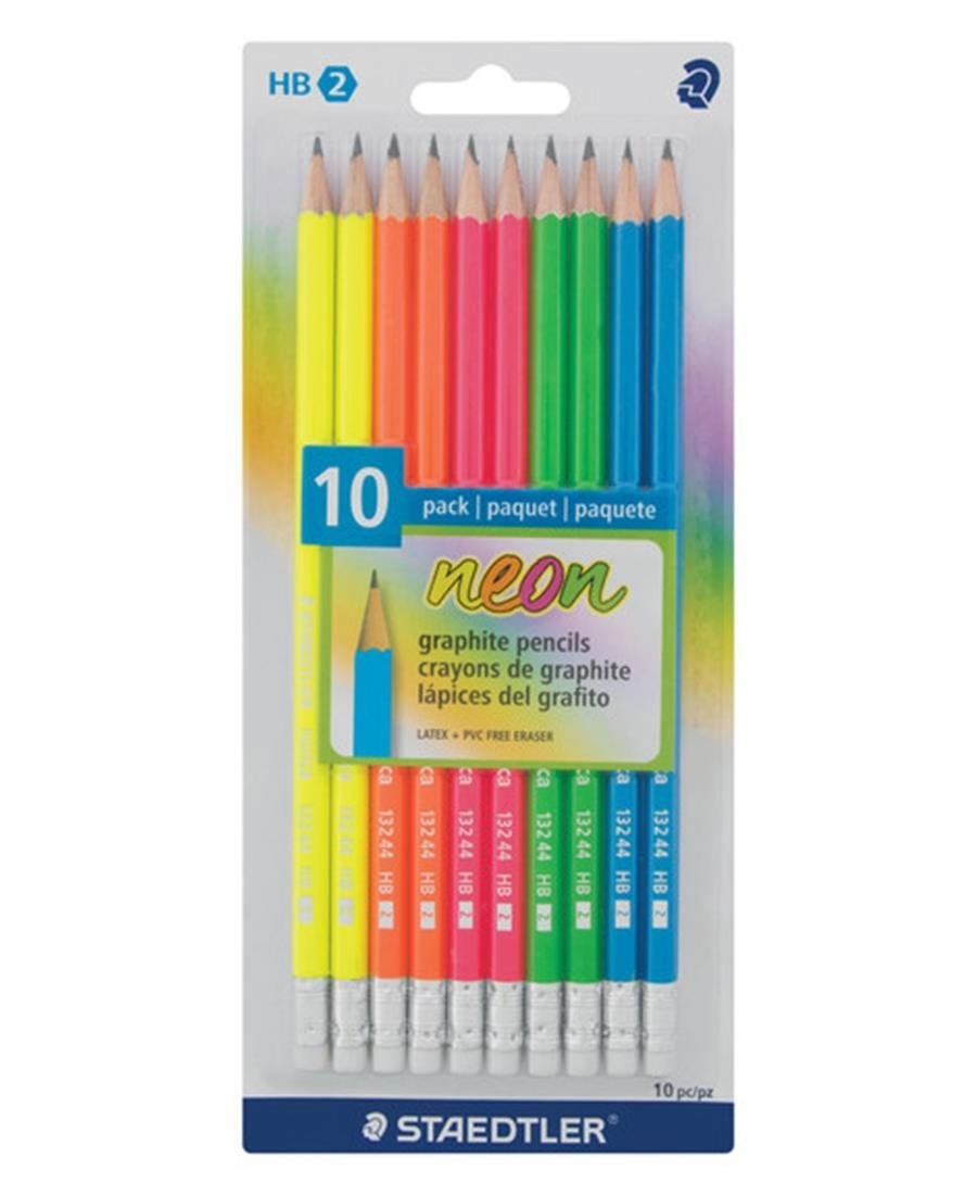 Staedtler 10 Pack Rubber Tip Pencils - Multi