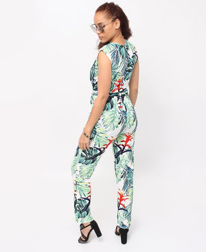 Floral Jumpsuit - Green