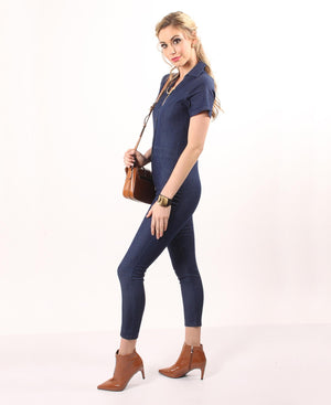 Denim Jumpsuit - Navy
