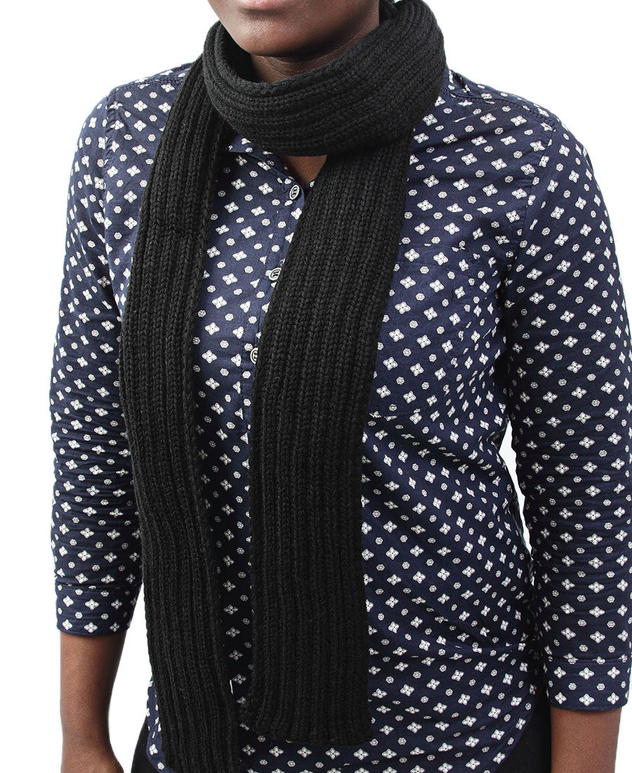 Woven Scarf - Black