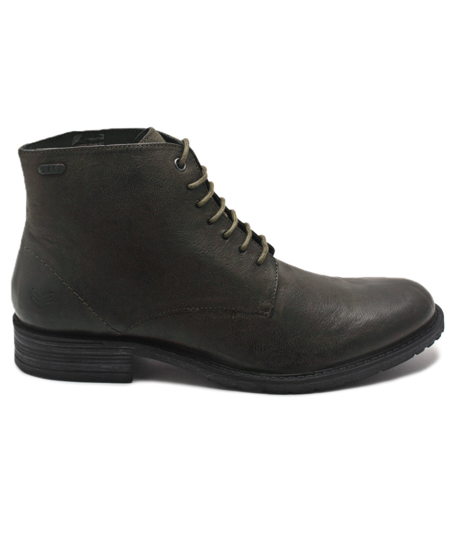 Genuine Leather Boots - Olive