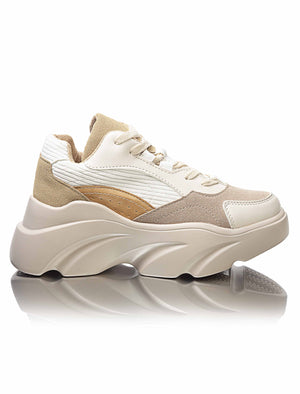 Ladies' Casual Sneakers - Beige