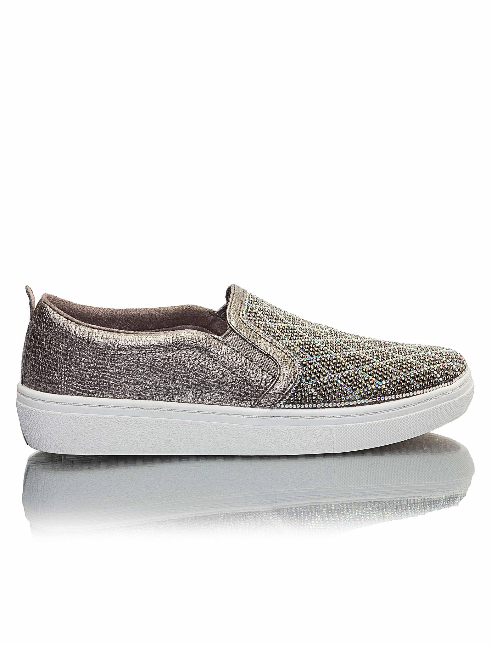 Ladies' Goldie-Diamond Sneakers - Pewter