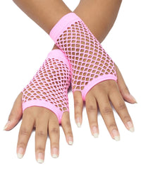 Short Fishnet Gloves - Mink
