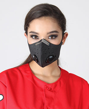 Dual Filter Strap On Mask - Grey