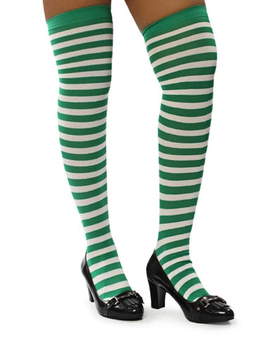 Striped Stockings - Green