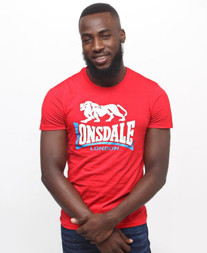 Lonsdale Crew Neck Tee - Red