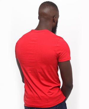Lonsdale V-Neck Tee - Red