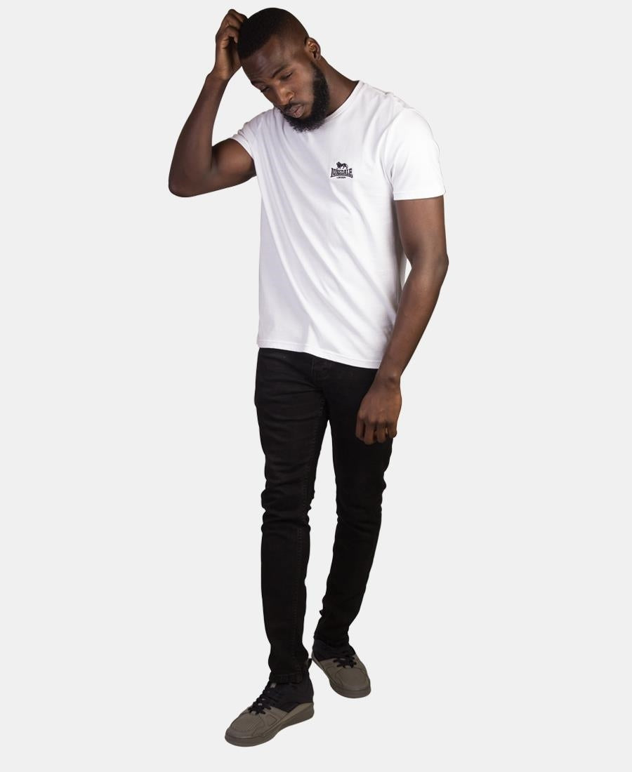 Lonsdale V-Neck Tee - White