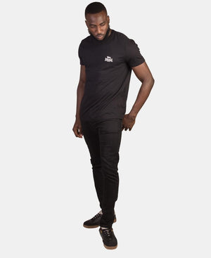 Lonsdale V-Neck Tee - Black