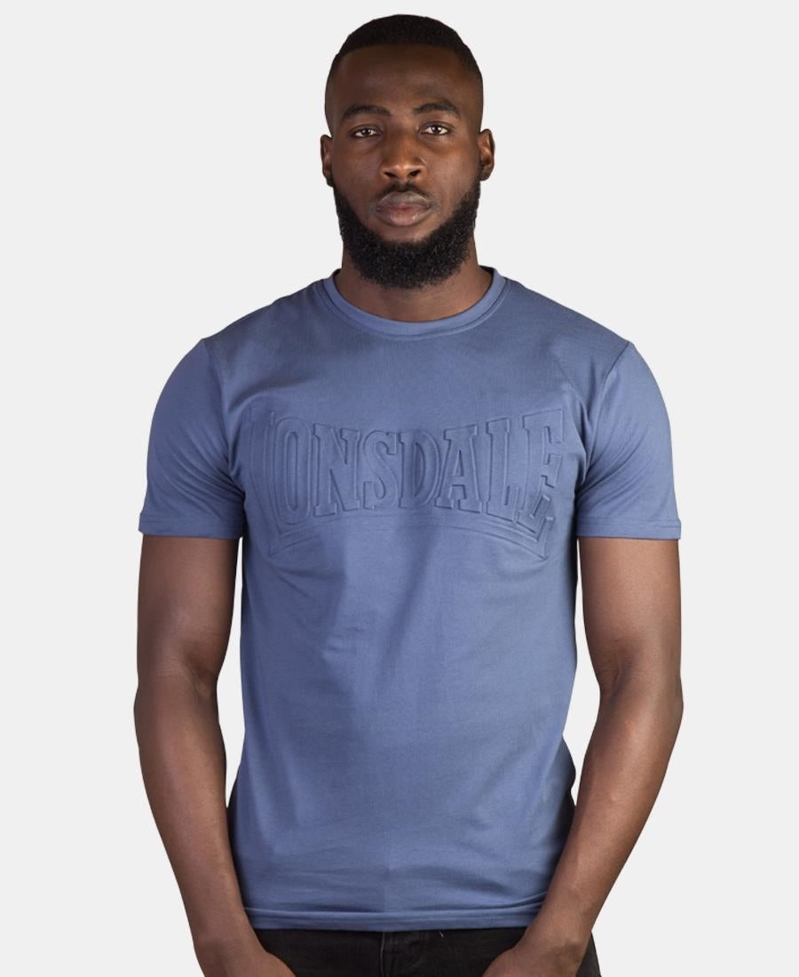 Lonsdale Embossed T-Shirt - Blue