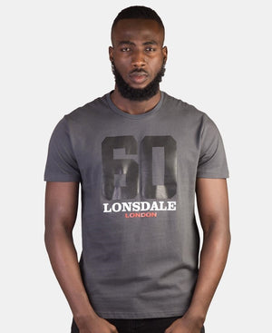 Lonsdale Crew Neck T-Shirt - Grey