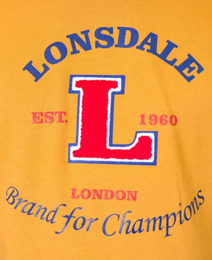 Lonsdale Crew Neck T-Shirt - Mustard