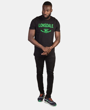 Lonsdale Crew Neck T-Shirt - Black