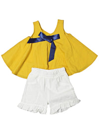 Girls Two Piece Outfit - Mustard
