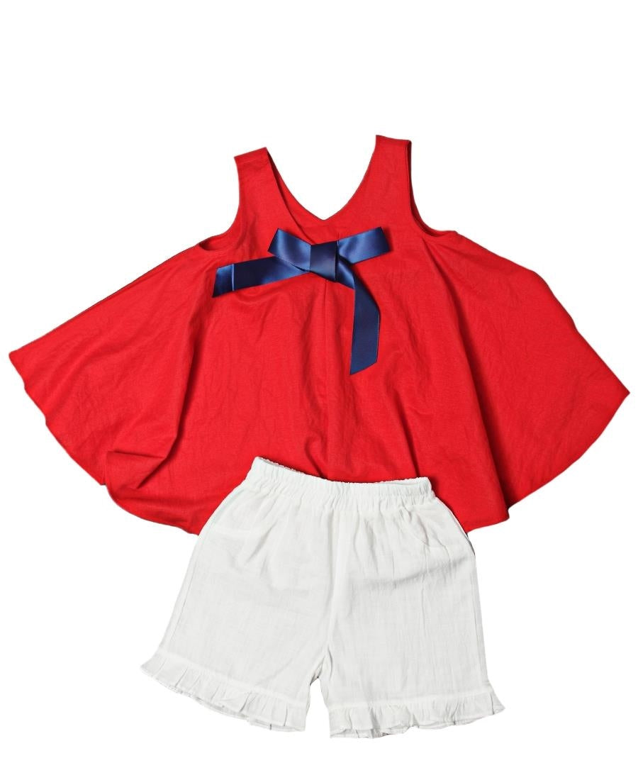 Girls Two Piece Outfit - Red