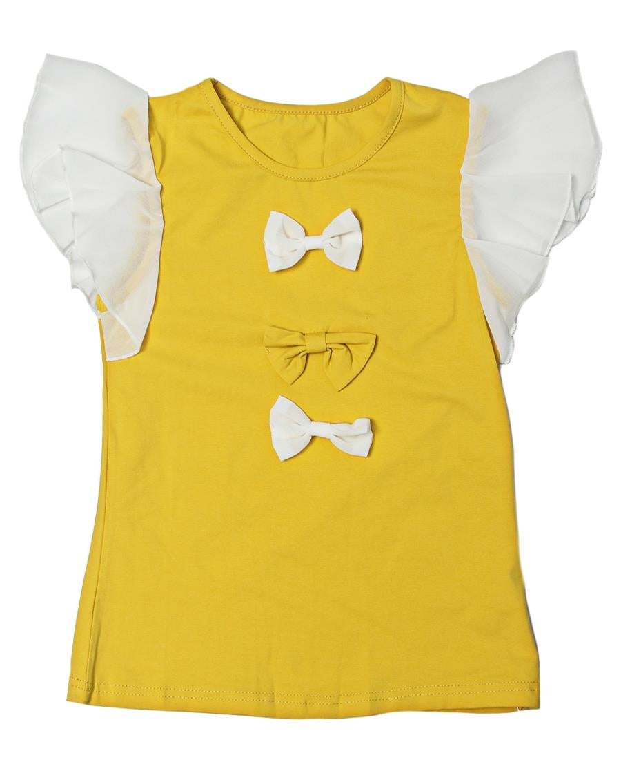 Girls Top  - Yellow