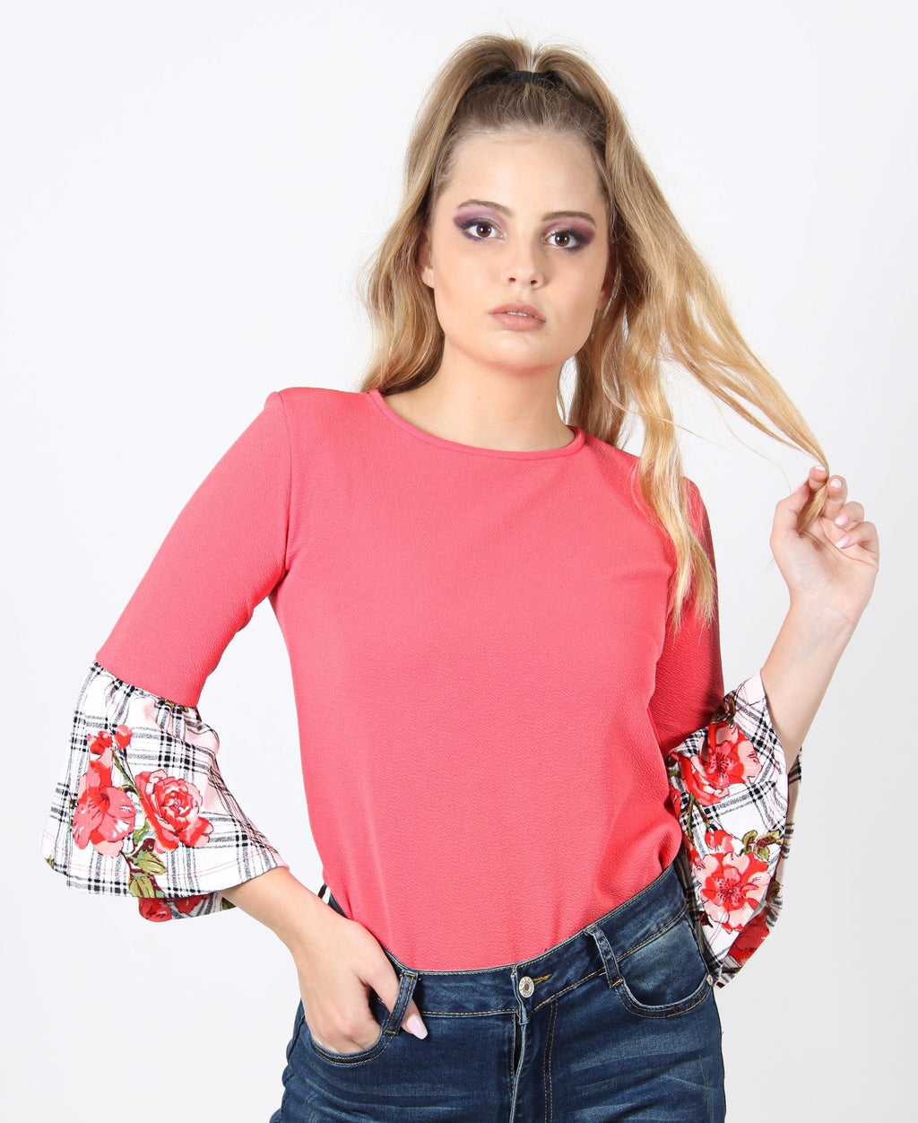 Bell Sleeve Top - Pink