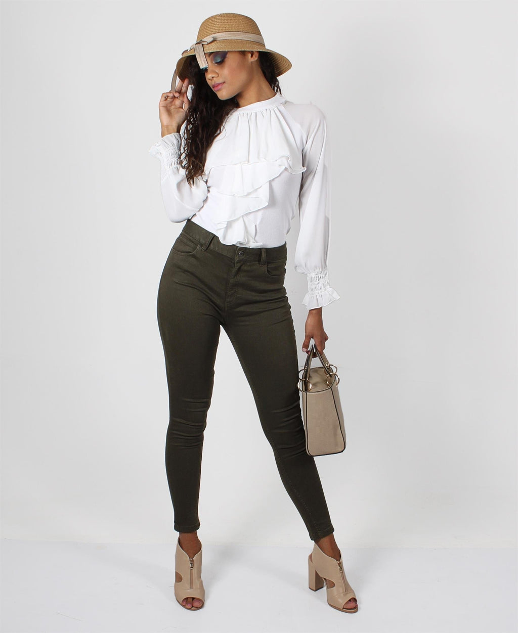 Layered Frill Detail Blouse - White