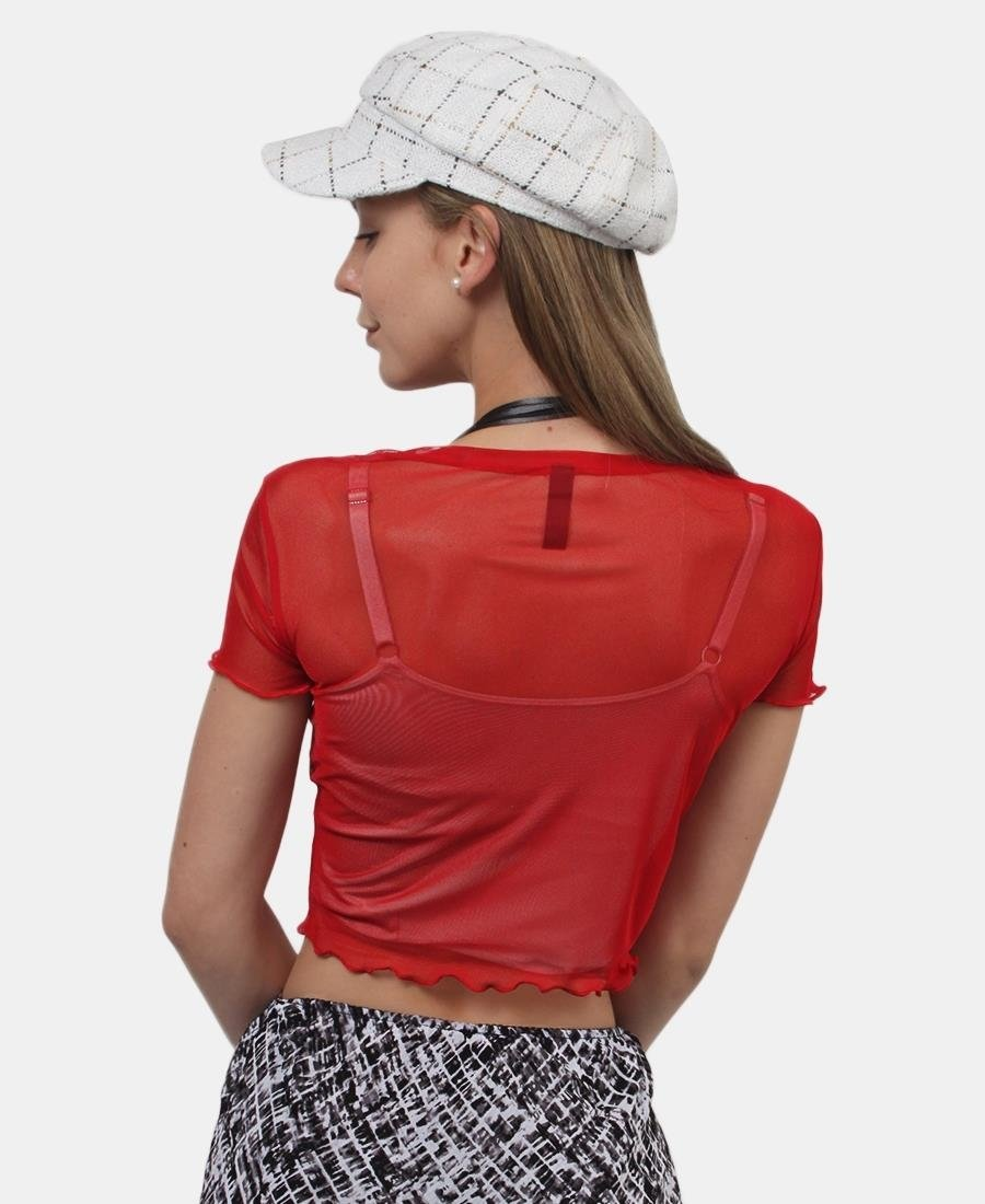 Mesh Top - Red