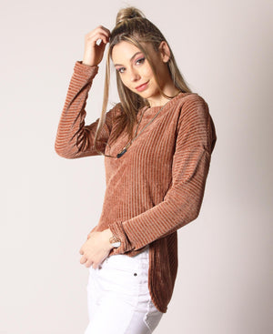 Lightweight Breathable Sweater - Tan