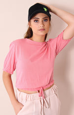 Cotton Poplin Top - Yellow