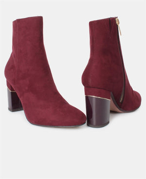 Ankle Boots - Maroon