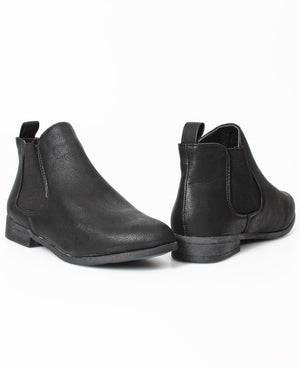 Slip On Ankle Boots - Black