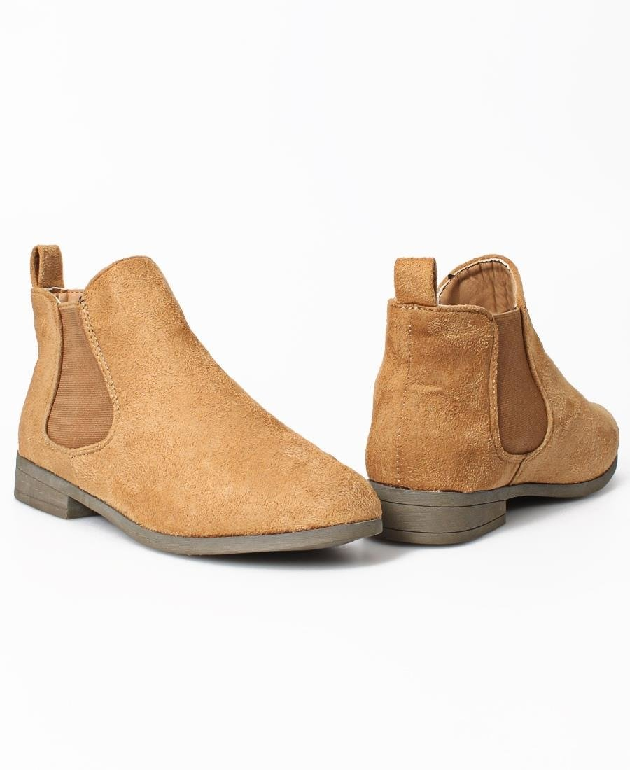 Slip On Ankle Boots - Camel