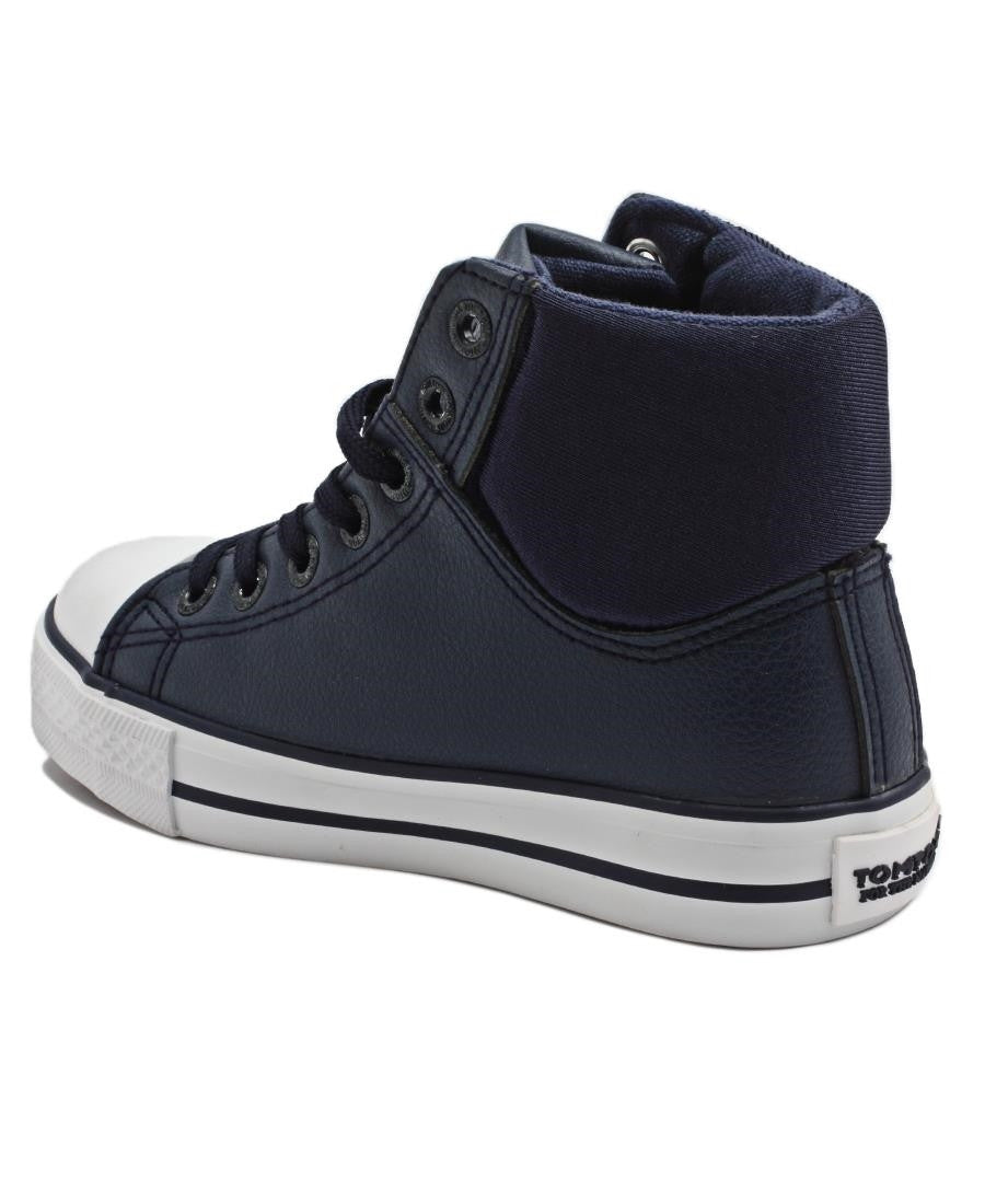 Boys High Tops  - Navy