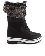 Casual Fur Boots - Black