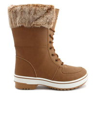 Casual Fur Boots - Tan