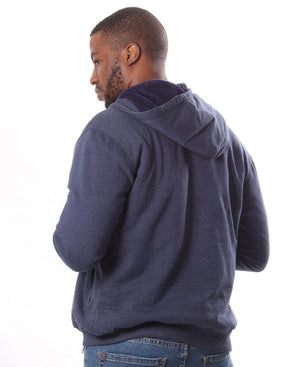 Mens' Zip Up Hoody - Navy