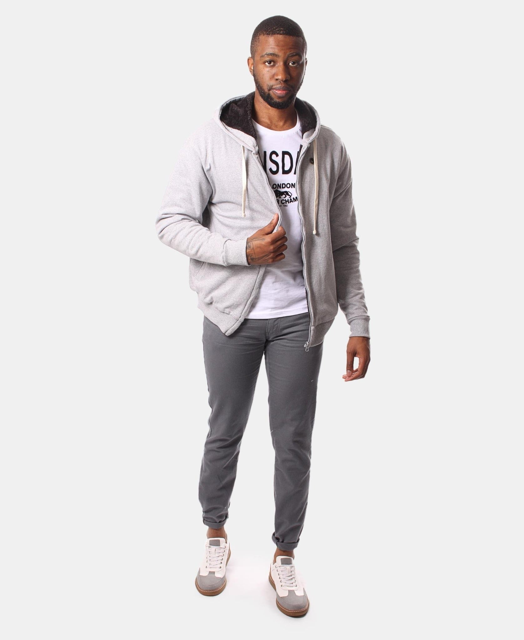 Mens' Zip Up Hoody - Grey
