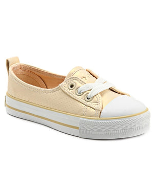 Girls Pearl Sneakers - Gold