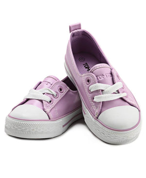 Girls Pearl Sneakers - Purple