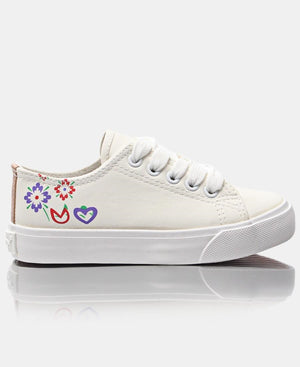 Girls Bloom Sneakers - White